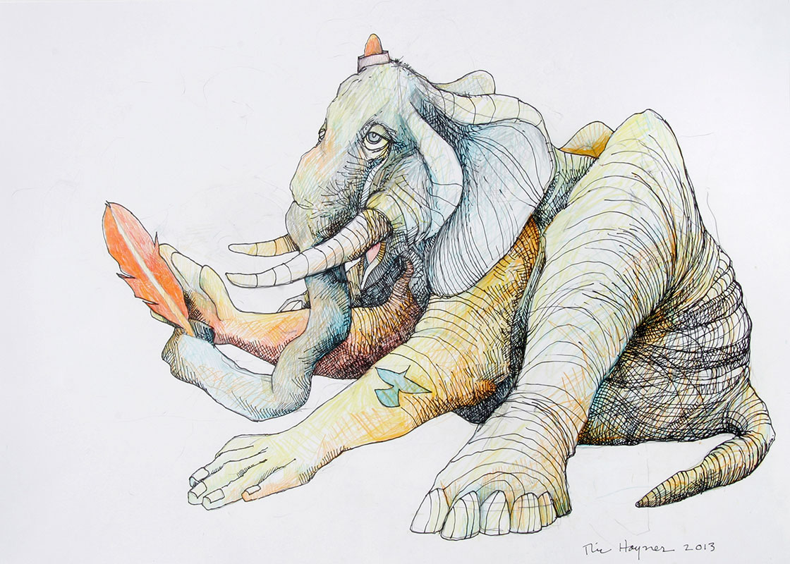 OLD DUMBO - 17 x 24 - colored pencil and ink - 2013