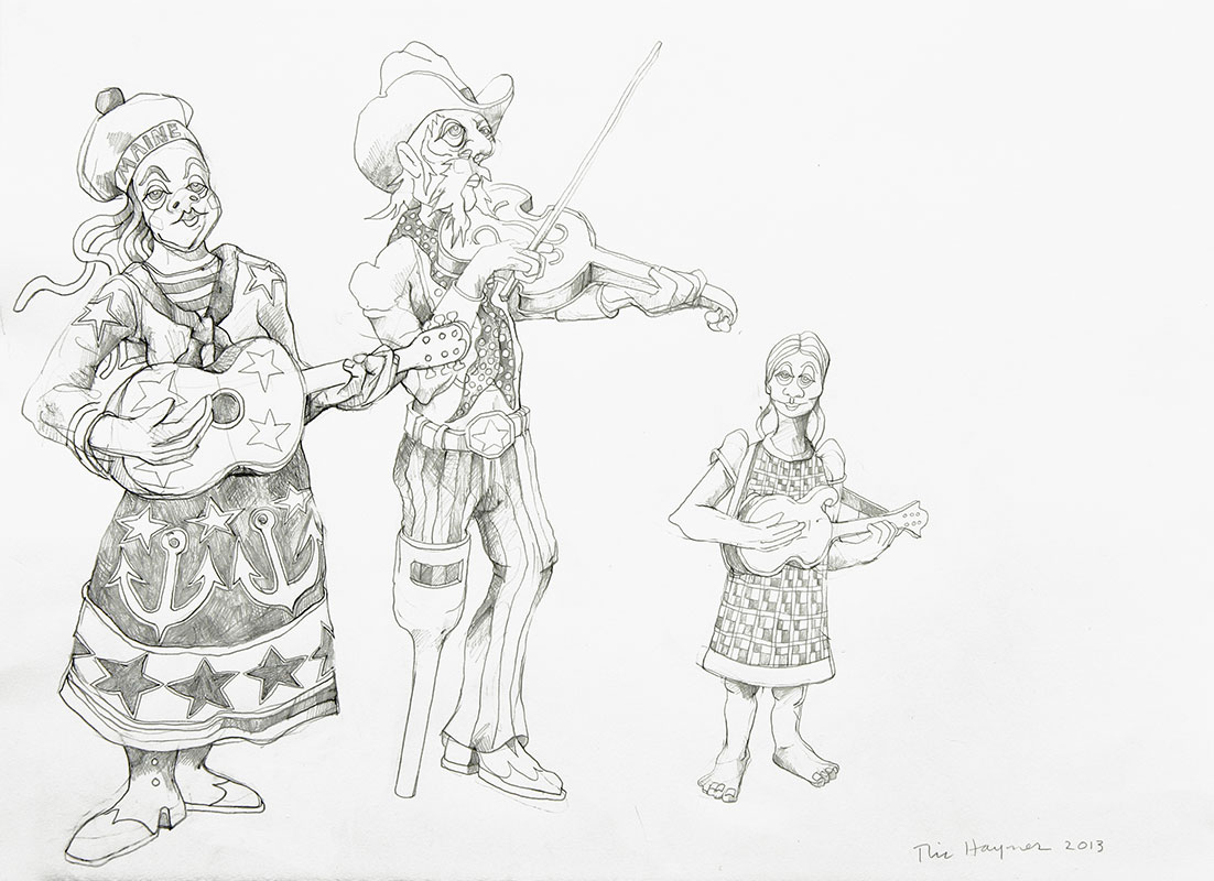 WYOMING ORCHESTRA - 22 X 30 - pencil - 2013
