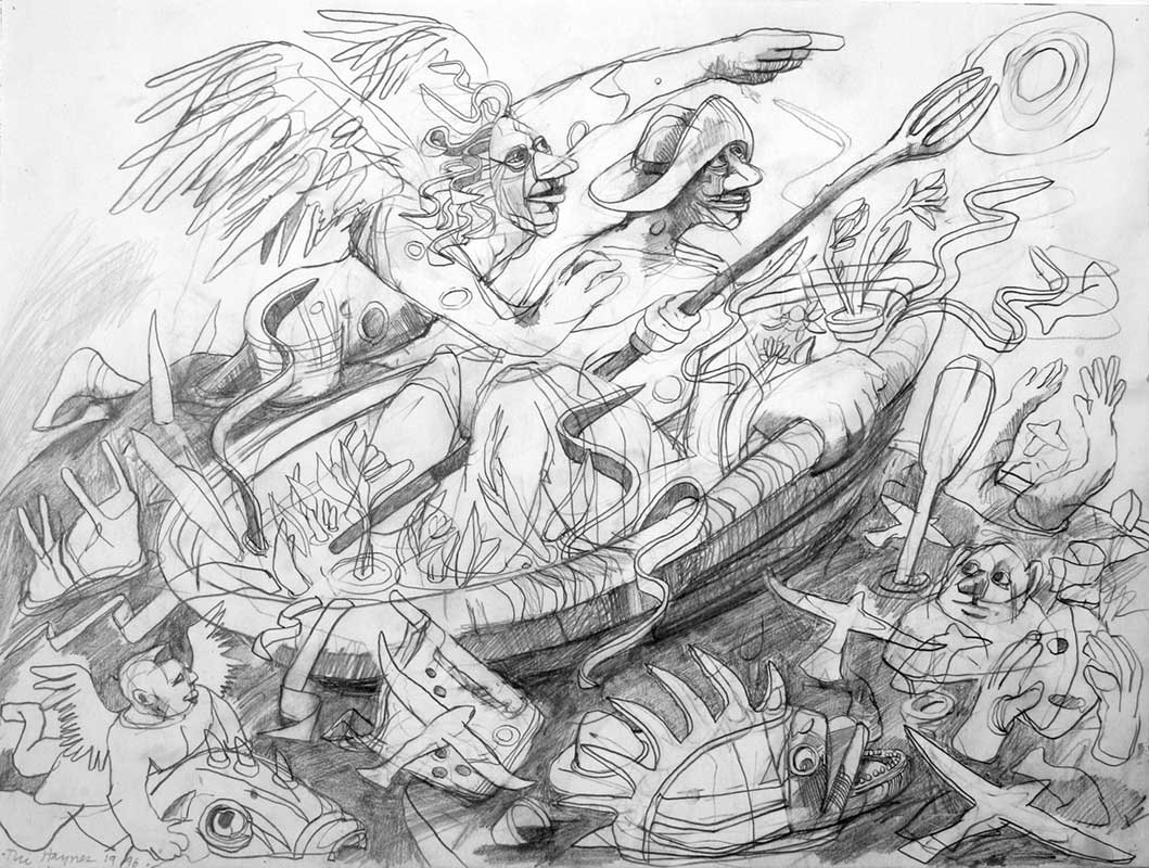 DIRECTION - 18 x 24 - pencil - 1996