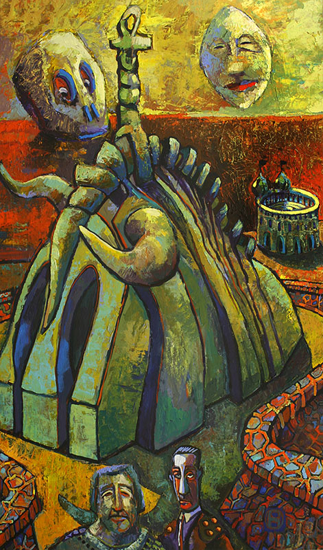 HOUSE OF PROMISE - 52 x 31 - acrylic - 1998