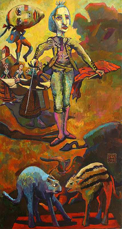 THE FOUNDING FATHER - 56 x 30 - acrylic - 1998